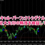 FXスキャル・パーフェクトシグナルの大矢印の精度