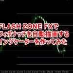 FlashZoneFXでフィボナッチを自動描画するインジ